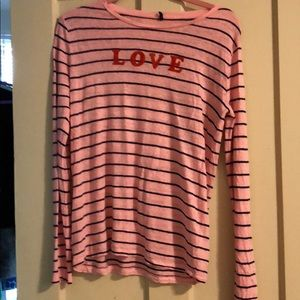 Lou & grey striped linen sweater, medium